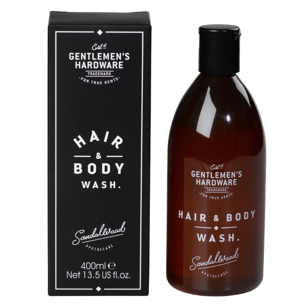 Gentlemen's Hardware Apothecary Hair & Body Wash, Sandlewood Scent