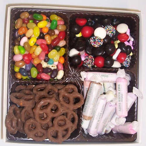 Scott's Cakes Large 4-Pack Salt Water Taffy, Licorice Mix, Assorted Jelly Beans, & Chocolate Pretzels