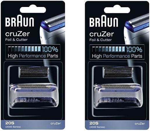 Braun 20 2000 serie CruZer 1, 2, 3, 4 lámina afeitadora y ...