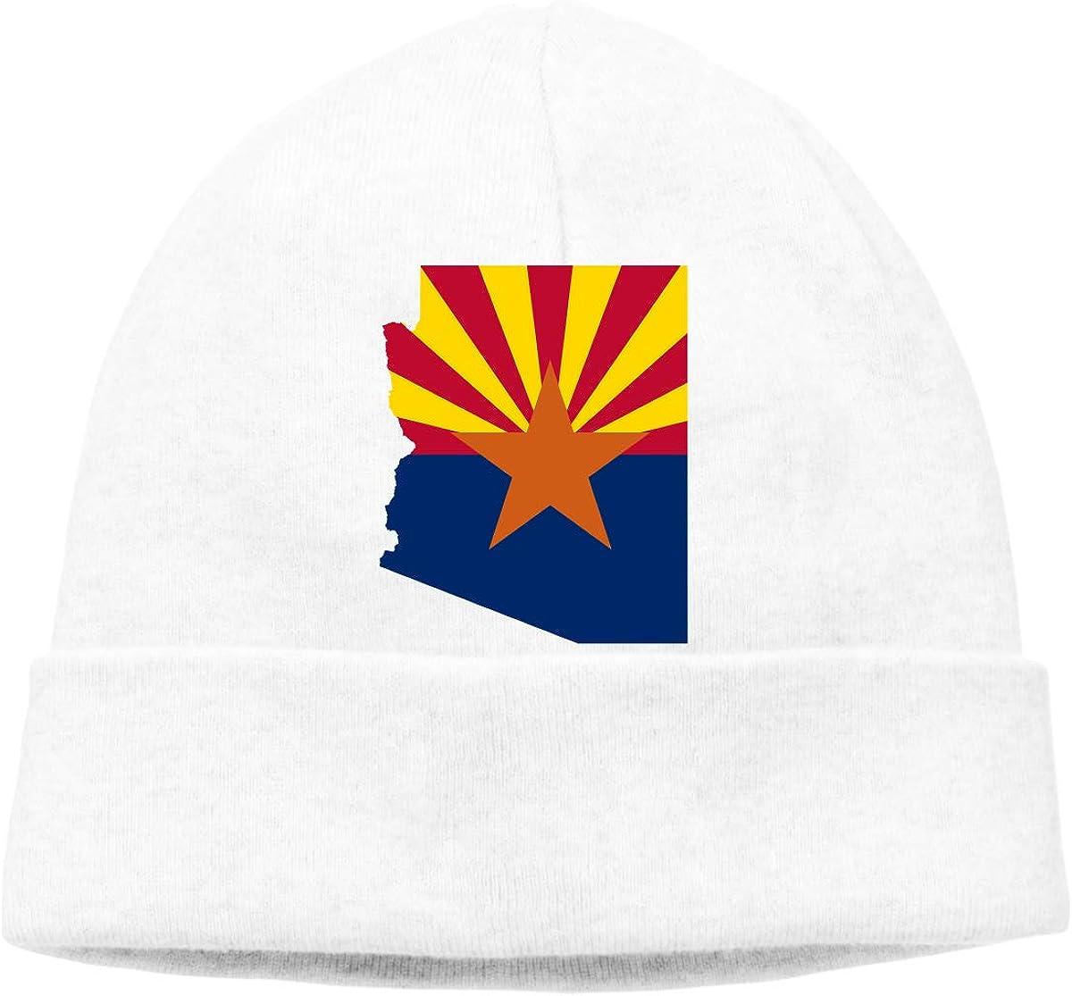 Beanie Hat Flag Map of Arizona Warm Skull Caps for Men and Women