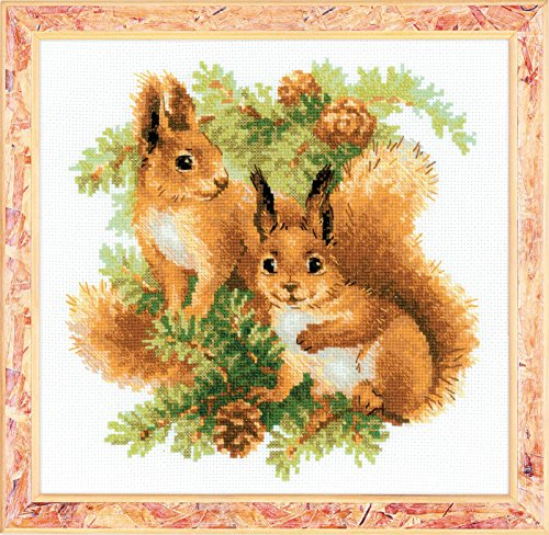 (RIOLIS 1491 - Squirrels - Counted Cross Stitch Kit 9¾