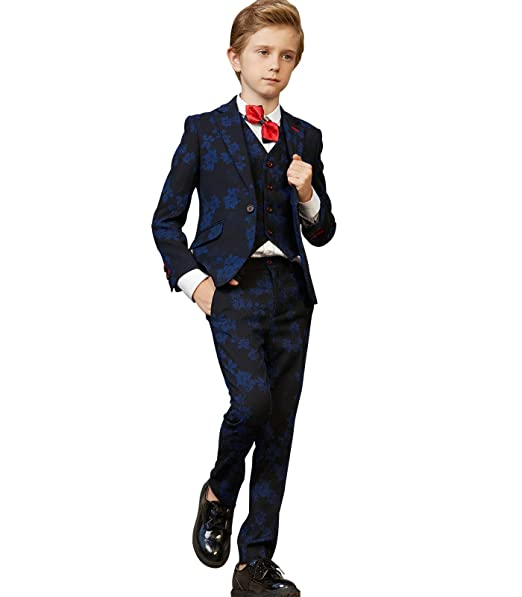 a7399be71 ELPA ELPA Boys Suits Tuxedo 5 Pcs Children's Clothes Slim Fit Formal Dress  Wear by: Amazon.ca: Clothing & Accessories