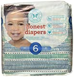 The Honest Company Disposable Baby Diapers, Teal Tribal, Size 6, 22 ct