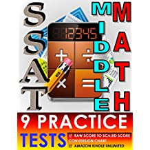 SSAT Middle Math – 9 Practice Tests