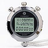 Cronómetro, 1/100 Segundos Tiempos 100 Unidades Memorias Impermeable Cronómetro Electrónico para Deportes al Aire Libre