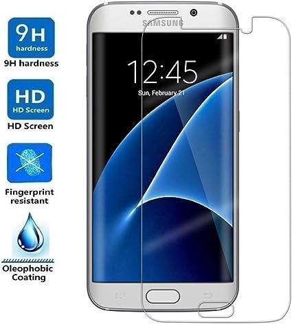 REY Protector de Pantalla para Samsung Galaxy S7 Edge Cristal ...