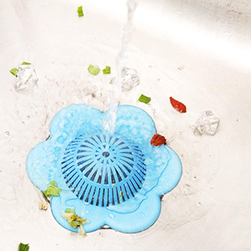 Color : Blue YIWMHE Sink Filter Pad Silicone Filter Kitchen Sink Drain Cover Bathroom Sink Anti Blocking Kitchen Sink Strainer Kitchen appliances