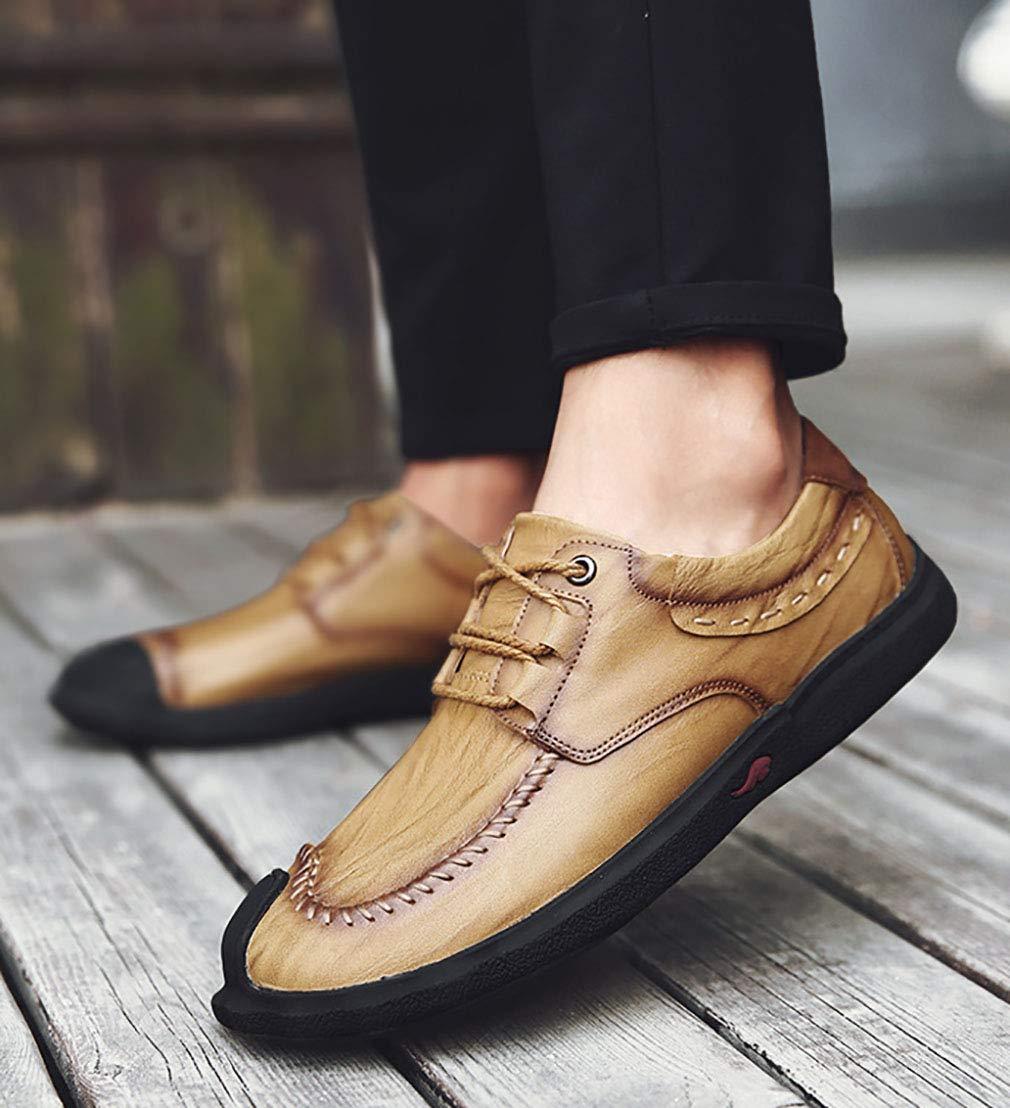 YAN Herren Schuhe Leder Breathable Casual Leder Loafers Schuhe Casual schnüren Sich Oxfords Turnschuhe Schuhe Casual Schuhe Party & Abend im Freien ef27c2