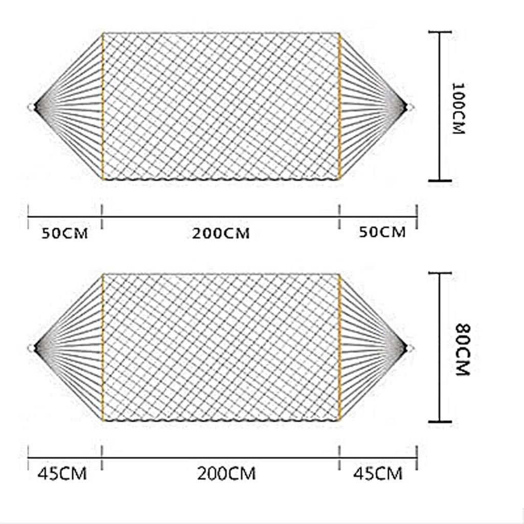 100KG//110KG Load 200*80CM//200*100CM White Breathable Hammock Ultra Light Travel Camping Mesh Bed Stick Anti-rollover Outdoor Indoor Sleep Camping Portable Swing Single Chair Lazy UOMUN