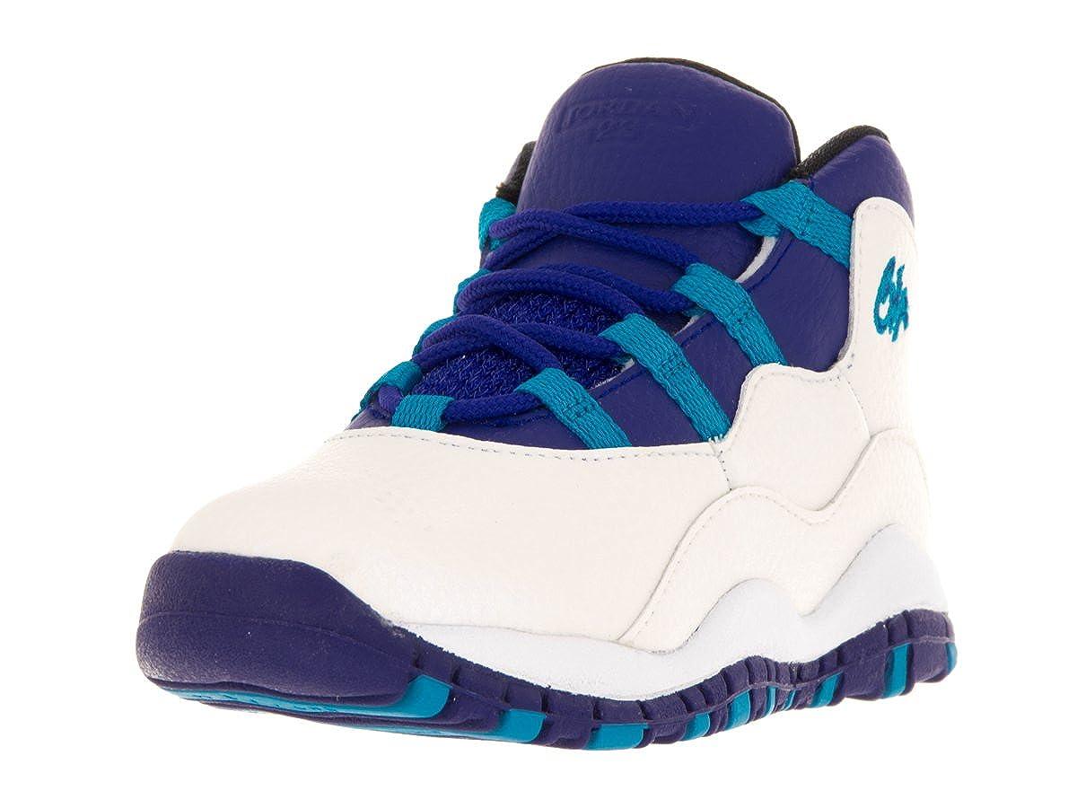Jordan Jordan310808-107 - Nike 10 Retro BT, 310808-107, Weiß Blau Schwarz Unisex Baby Herren