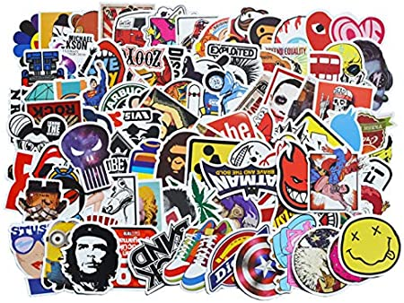 100 Unids Pack Clásico Pegatinas De Graffiti De Moda Para Moto Coche Y Maleta Fresco Divertido Juguete Pegatinas Pegatinas Skateboard Etiqueta Gxtz5 Amazon Es Bebé