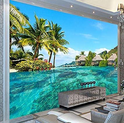 3d Photo Wallpaper Hd Maldive Mare Spiaggia Paesaggio Naturale