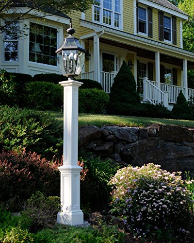 Outdoor Lamp Post Amazon: Mayne 5835-WH Signature Lamp Post With 89-Inch Aluminum