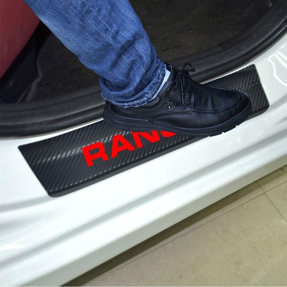 TDPQR 4 St/üCk Kohlefaser Auto Einstiegsleisten Schutz Aufkleber,f/üR Ford Ranger Einstiegsleisten Kick Plates Schutzpedal Verhindern Sie Kratzer rutschfest Car Styling Zubeh/ör