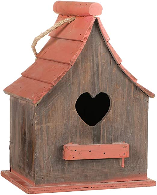 Dibor – Casa de pájaros colgante de madera para jardín, caja de nido (BY06): Amazon.es: Jardín