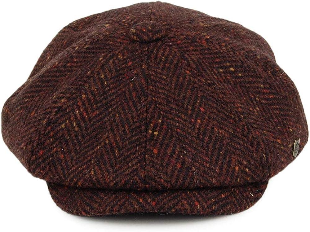 Failsworth Men`s Malmo Donegal Tweed Cap Wine 834