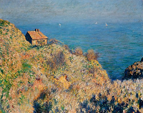 kunst für alle Art Print/Poster: Claude Monet The Customs Officer s Cottage at Varengeville Picture, Fine Art Poster, 39.4x31.5 inch / 100x80 cm