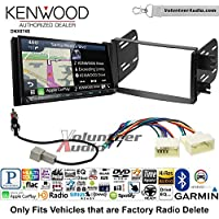 Volunteer Audio Kenwood DNX874S Double Din Radio Install Kit with GPS Navigation Apple CarPlay Android Auto Fits 2012-2013 Hyundai Accent (Radio Delete Models)