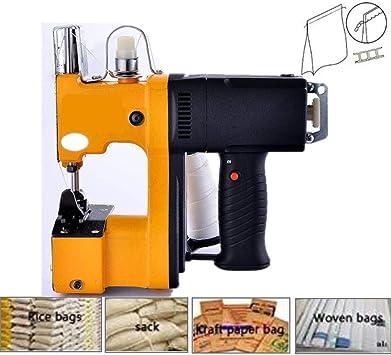 Máquina de embalaje de cierre de bolsas Máquina de coser eléctrica portátil Máquina de sellado Empacadora para sacos de bolsas tejidas: Amazon.es: Bricolaje y herramientas