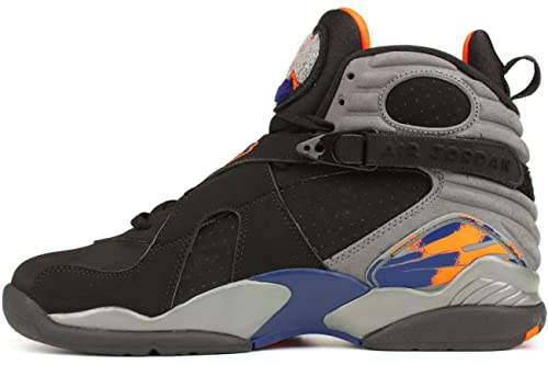 new style 3cacf ab127 Nike Mens Air Jordan 8 Retro Phoenix Black Bright Citrus-Cool Grey-Deep