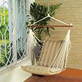 Oak N Oak Comfortable & Relaxing Indoor & Outdoor Hanging Chair Furniture - Tropical Palm Stripe