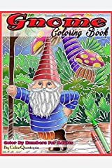 Gnome Coloring Book Color By Numbers For Adults: Funny Gnomes at Home and in Nature (Fun Adult Color By Number Coloring) Paperback