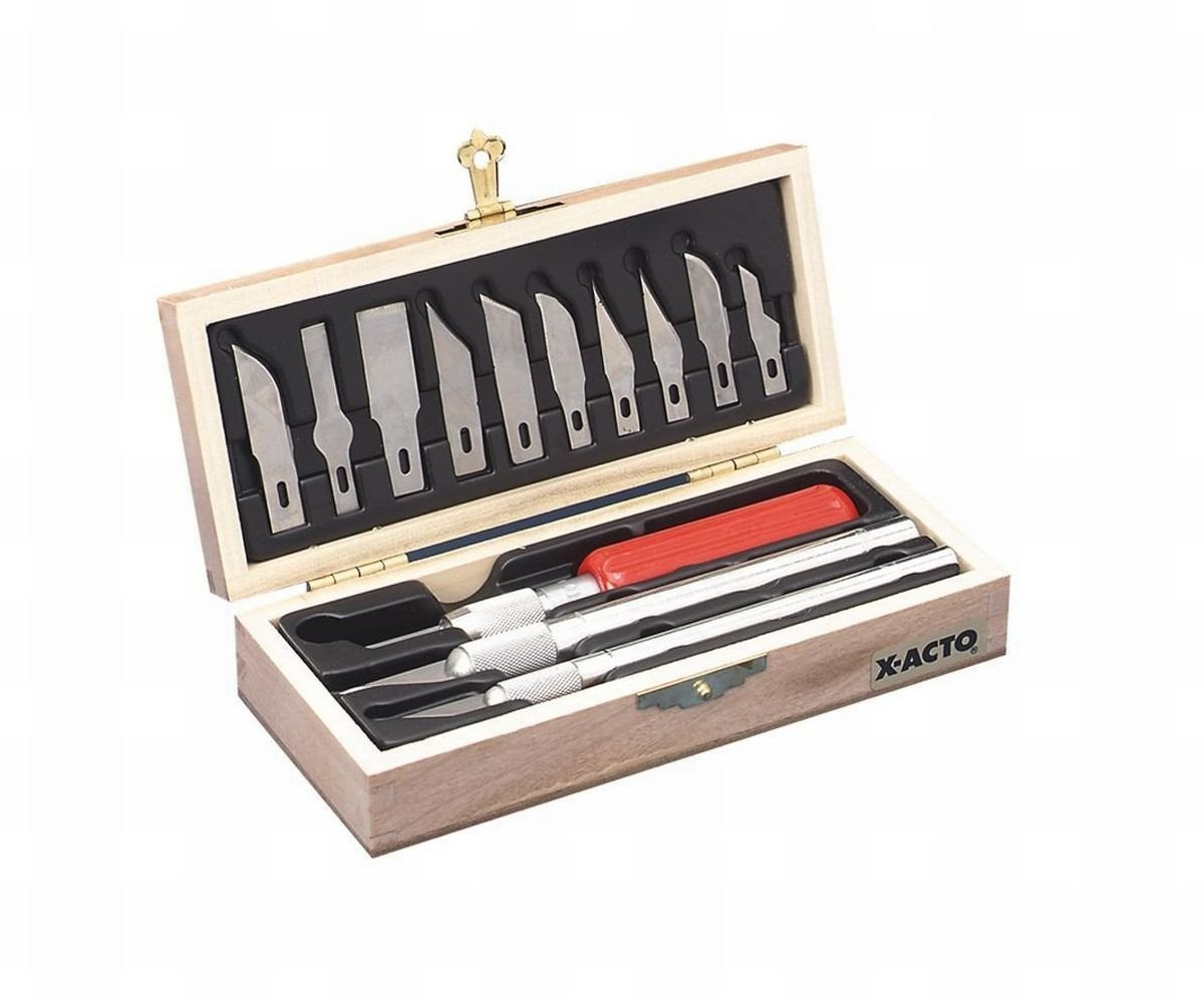 ELMERS X-Acto Knife Set, 3 Knives, 10 Blades, Carrying Case (X5082)