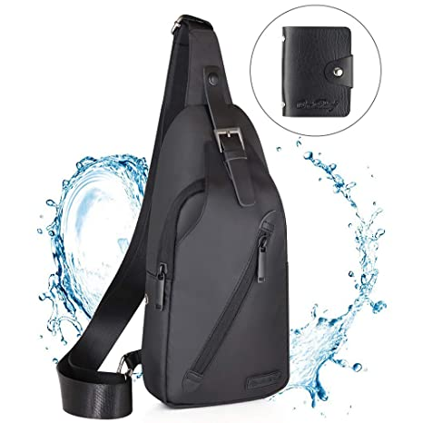 fb93e81fc281 Amazon.com   LST Sling Bag Water Resistance Crossbody Chest Backpack ...