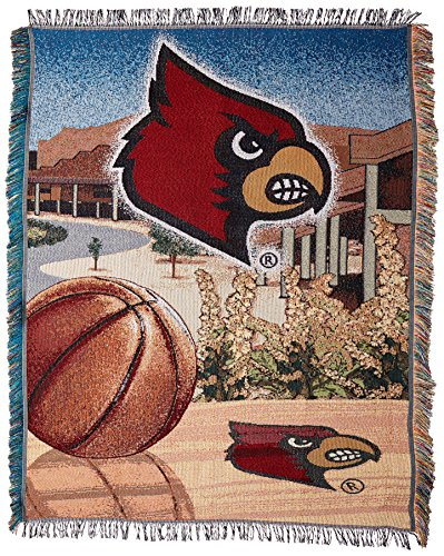 The Northwest Company Officially Licensed NCAA Louisville Cardinals Home Field Advantage Woven Tapestry Throw Blanket, 48