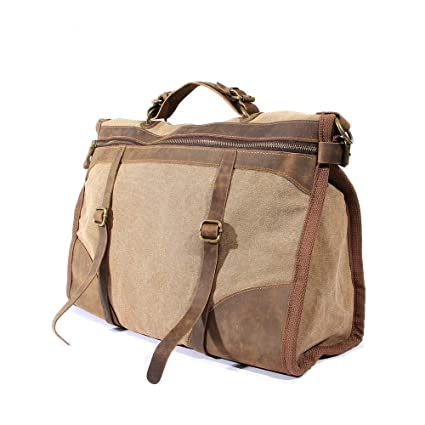Ybriefbag Unisex Retro Crazy Horse Leather Big Bag Leather Travel Bag Leather Messenger Bag Leather Man Bag Business Bag Vacation