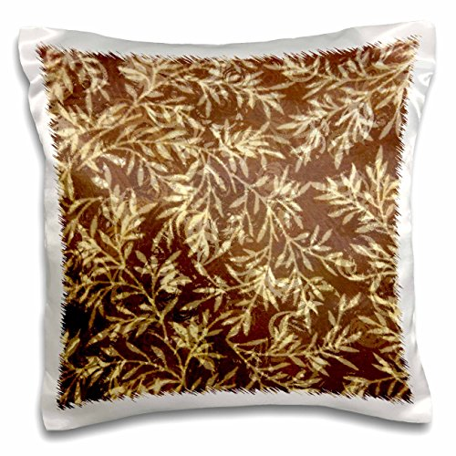 3dRose Florene Decorative - Tawny Wood - 16x16 inch Pillow Case (pc_27110_1)