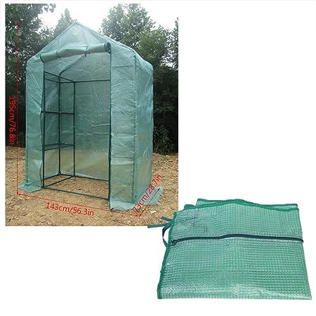 Asixx Tienda de Invernaderos, Invernadero de Jardín, Caseta de Jardín, de PVC, para Plantar Cultivos Y Plantas En El Jardín(143 * 73 * 195cm): Amazon.es: ...