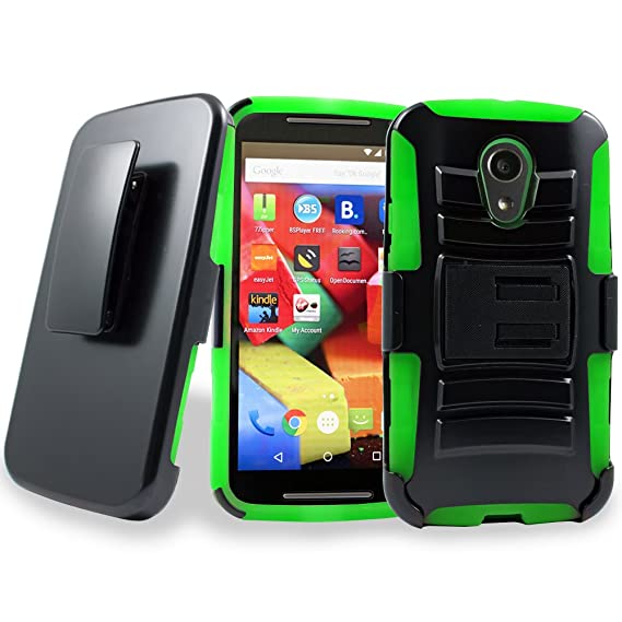 official photos 284fd 6cf4d Motorola Moto G2 Case, Customerfirst Holster Case with Belt Clip Holster  Kickstand Full-body Dual Layer Hybrid Protective Cover for your Motorola  Moto ...