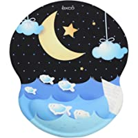 EXCO Mouse Pad with Wrist Support, Ergonomic Support Comfort Mouse Mat with Wrist Rest,Non-Slip Base Mouse Mat for Home…
