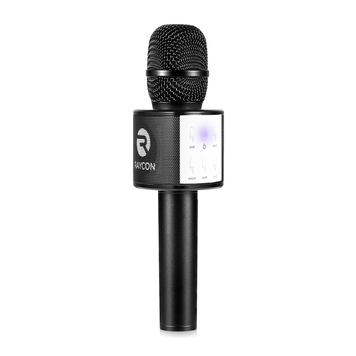 Raycon Supreme Mic M30 Karaoke Microphone Bluetooth 4.1 with Built In Speaker Compatible with Android iPhone and PC - Black