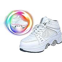 Doble Rodillo Zapatos De Skate Zapatos Invisible De Polea De Zapatos Zapatillas De Deporte Luz Zapatos con Luces LED de…
