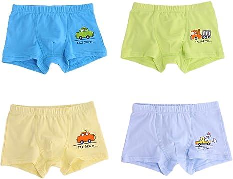 Sivice - Pack of 4 Underwear Briefs for Boys Soft Car Patrulla de ...