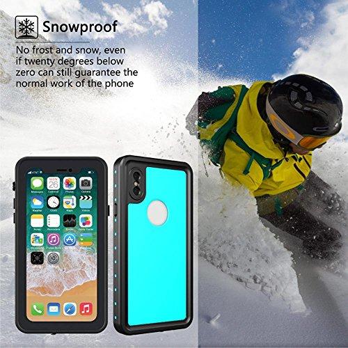 KOBWA für IPhone X Wasserdichte Hülle, IP68 Zertifiziert Wasserdicht Ultra Dünn Outdoor Handy Hülle Stoßfest Staubdicht Staubdicht Kratzfestes Gehäuse Full Body Robuste Schutzhülle für IPhone X Weiß