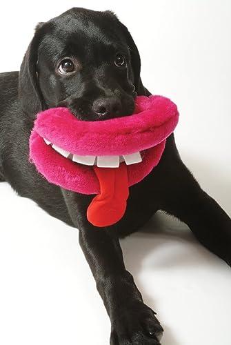 Ancol Plush Dog Lips Dog Toy (Type May Vary)