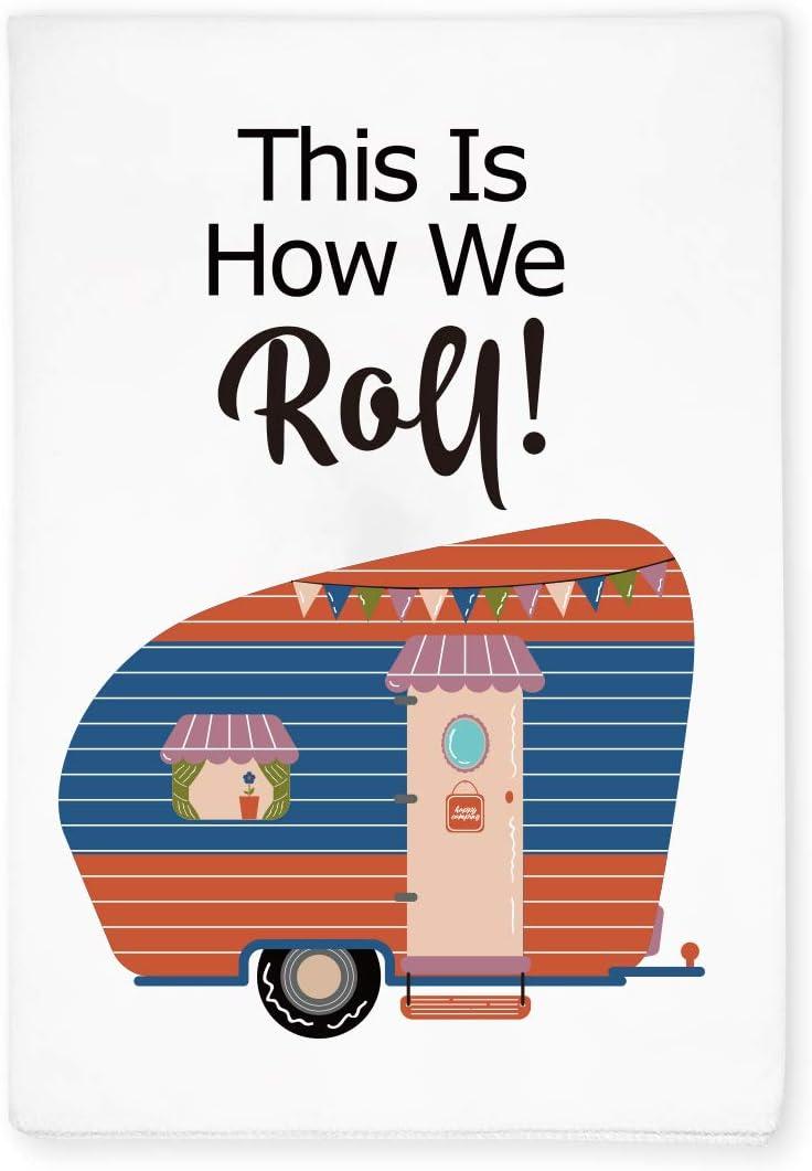 KAHPAN Funny RV Camper Caravan Sayings Kitchen Bathroom Hand Flour Sack Dish Towel, Motor Home Decor, Gift for Camping Lover, Friends, Retirement, Birthday, Christmas, Thanksgiving