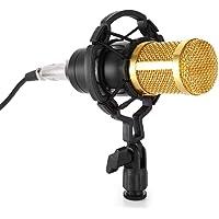 Micrófono Profesional Kit de Micrófono Condensador con Tapa de Espuma Esférica y Montura Antivibratoria para Radio…