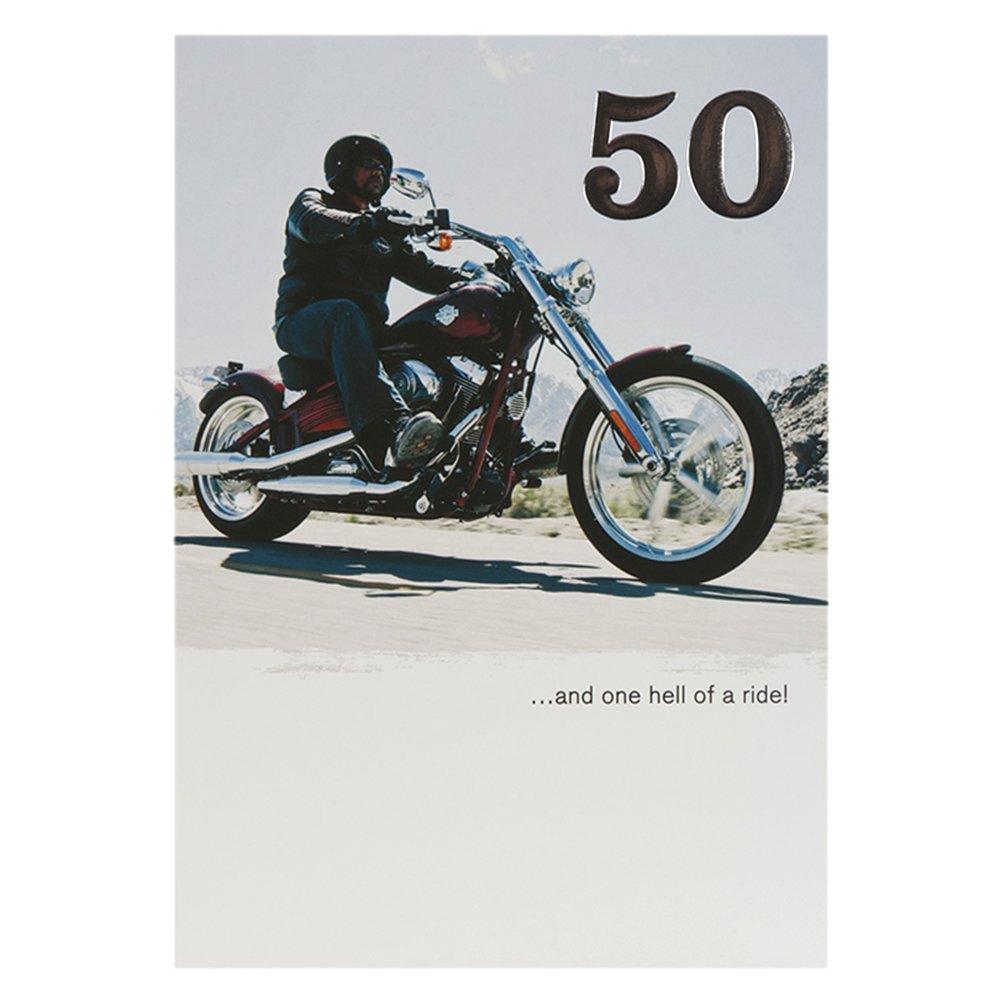 Hallmark Harley Davidson 50th Birthday Card One Hell Of A Ride – Harley Davidson Birthday Cards
