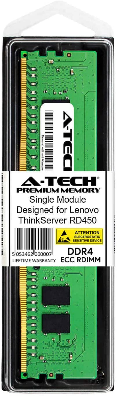 for Lenovo ThinkServer RD450 Server Memory Ram Equivalent to OEM 7X77A01301 DDR4 PC4-21300 2666Mhz ECC Registered RDIMM 1Rx8 A-Tech 16GB Kit 2 x 8GB AT350906SRV-X2R8
