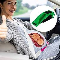 LucBuy Ajustador de Cinturón de Seguridad para Embarazo, Maternidad y Comodidad para Mamás Embarazadas,Protege al Bebé no Nacido, un Artículo Imprescindible para Las Mujeres Embarazadas (Verde)