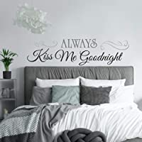 RoomMates Always Kiss Me Goodnight Quote Peel and Stick Wall Decals , 10 Inch  x 18 Inch - RMK2084SCS