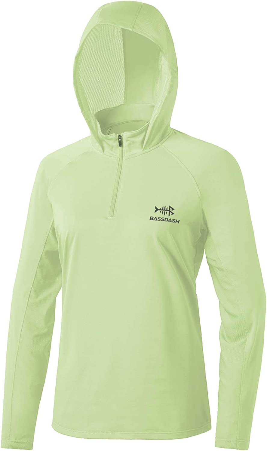 Bassdash Women's UPF 50+ Performance Hoodie Long Sleeve UV Fishing Hiking Shirt