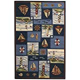 Safavieh Chelsea Collection HK267A Hand-Hooked Blue Premium Wool Area Rug (5'3″ x 8'3″) Review