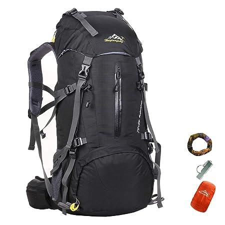 caxece 50L/70L montañismo Mochila Escalada al Aire Libre Senderismo Mochila Viajes Deportes Mochila Mochila Camping Senderismo con Impermeable Impermeable: ...