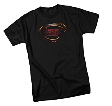 3590ce1c3 Amazon.com: Warner Bros Superman Logo - Justice League Movie Adult T ...