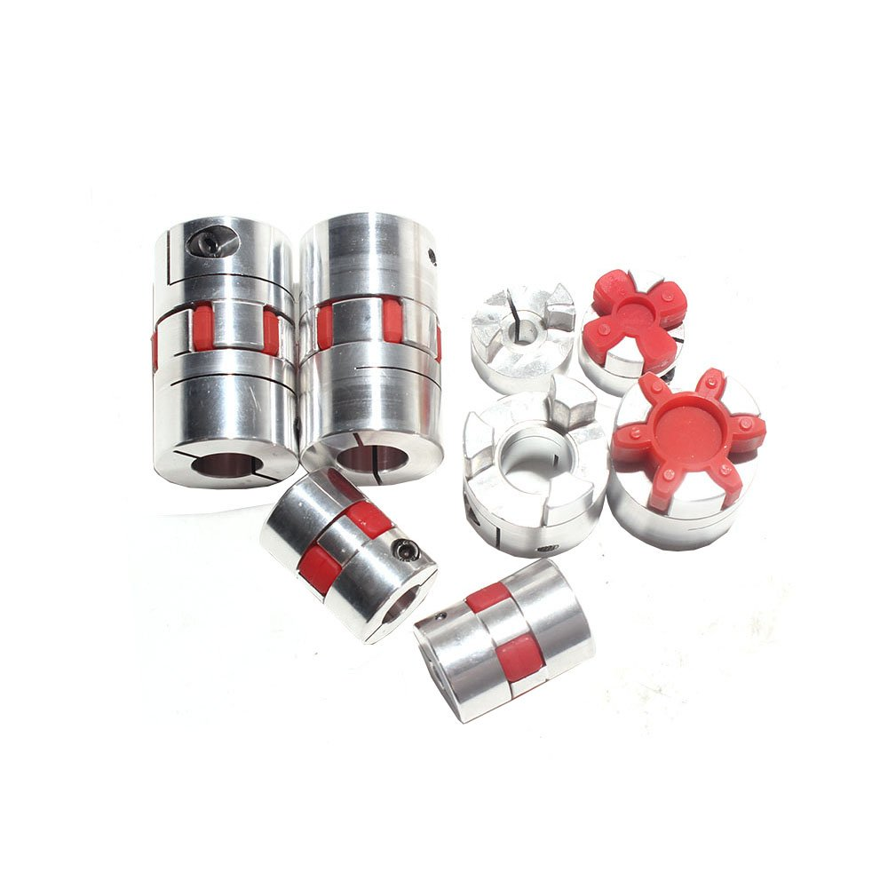 4pcs 4mm to 10mm D20mm x L34mm Aluminium Shaft Plum Blossom Coupling Motor Connector Flexible Shaft Coupling
